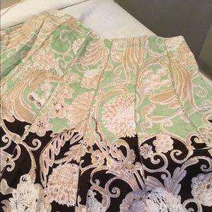 Elie Tahari lined linen Skirt size 10